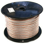 Clear PVC Speaker wire, 14 Awg, 500 feet long