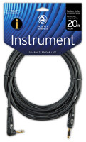"Planet Waves Custom Series Instrument Cable. Right angle and Straight 1/4"" plugs, 20 feet"