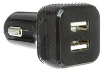 2 Port, 4.4 Amp, USB Car Charger for Tablets and Smartphones