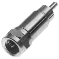 RCA Male to Coax F Male Adapter