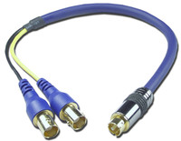 S-Video to dual female BNC Adapter Cable