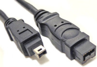 9 pin to 4 pin Firewire Cable