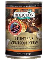 Addiction Hunter's Venison Stew Dog Canned