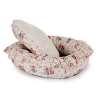 All For Paws Shabby Chic Round Bed Medium Cream