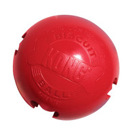 The KONG Biscuit Ball is a patented rubber ball with a hollow center and four bone-shaped ports to hold KONG Stuff'N Snacks and Easy Treat paste.  This durable toy has all the fun of a ball, plus it keeps dogs busy removing the tasty morsels inside.