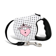 Avant Garde retractable leash, Couture Princess