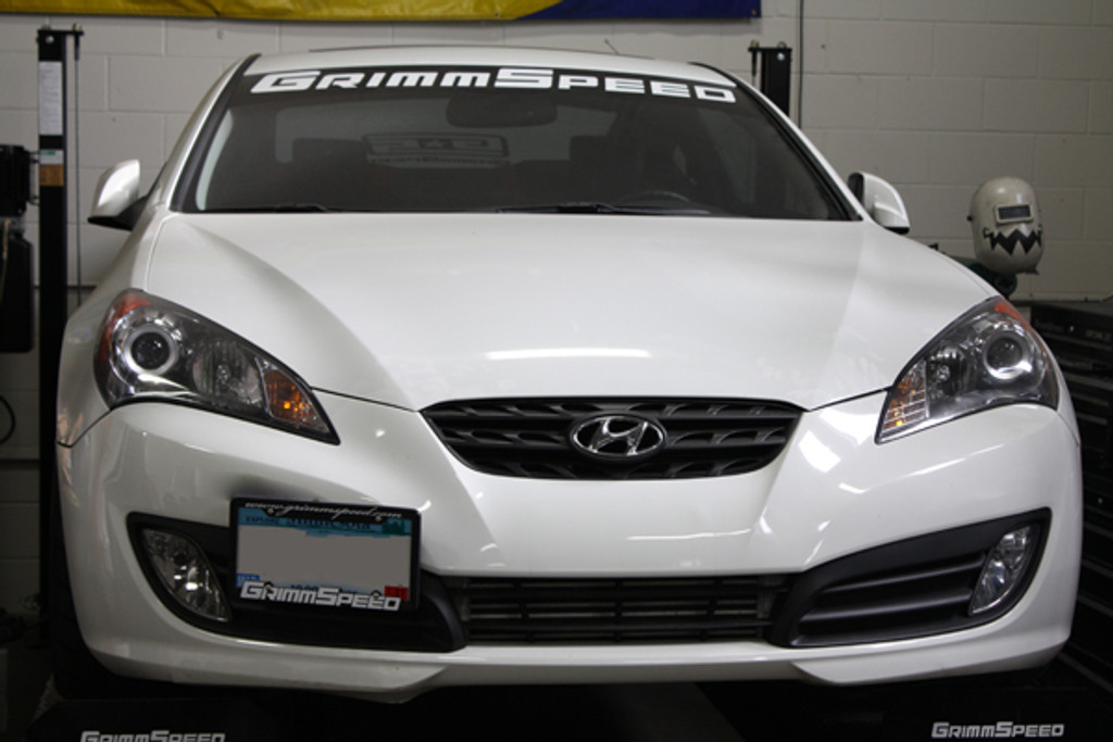 GrimmSpeed Hyundai Genesis Couple License Plate Relocation Kit