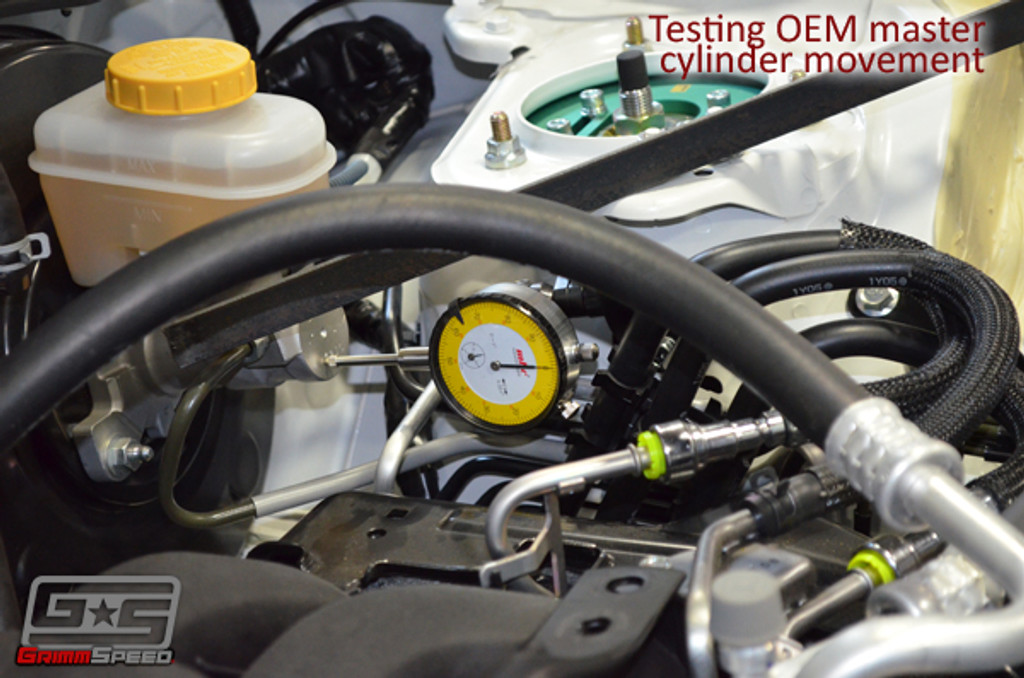 GrimmSpeed BRZ/FR-S Master Cylinder Brace - Testing OEM master cylinder movement to see if the product is justifiable.