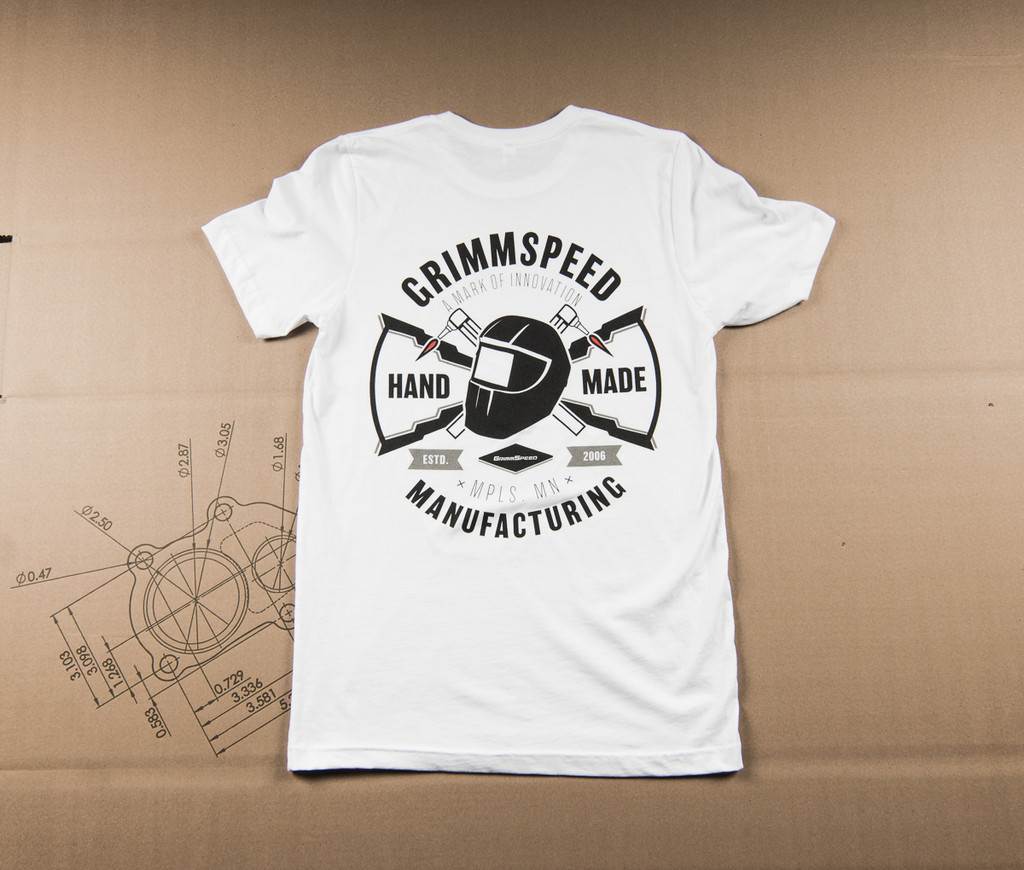 """GrimmSpeed MFG """"Hand-Made"""" T-Shirt Fitted - White"""