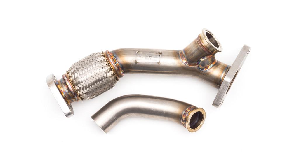 External Wastegate Up Pipe w/ Dump Tube 38/40mm V-Band WRX/STI/LGT/FXT