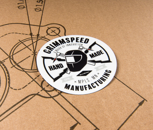 GrimmSpeed Round MFG Sticker - 4 inch