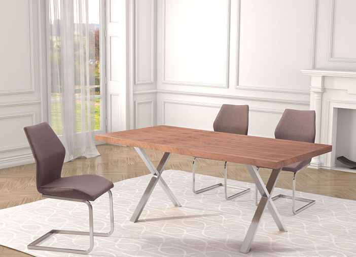 100086 zuo modern renmen dining table in walnut