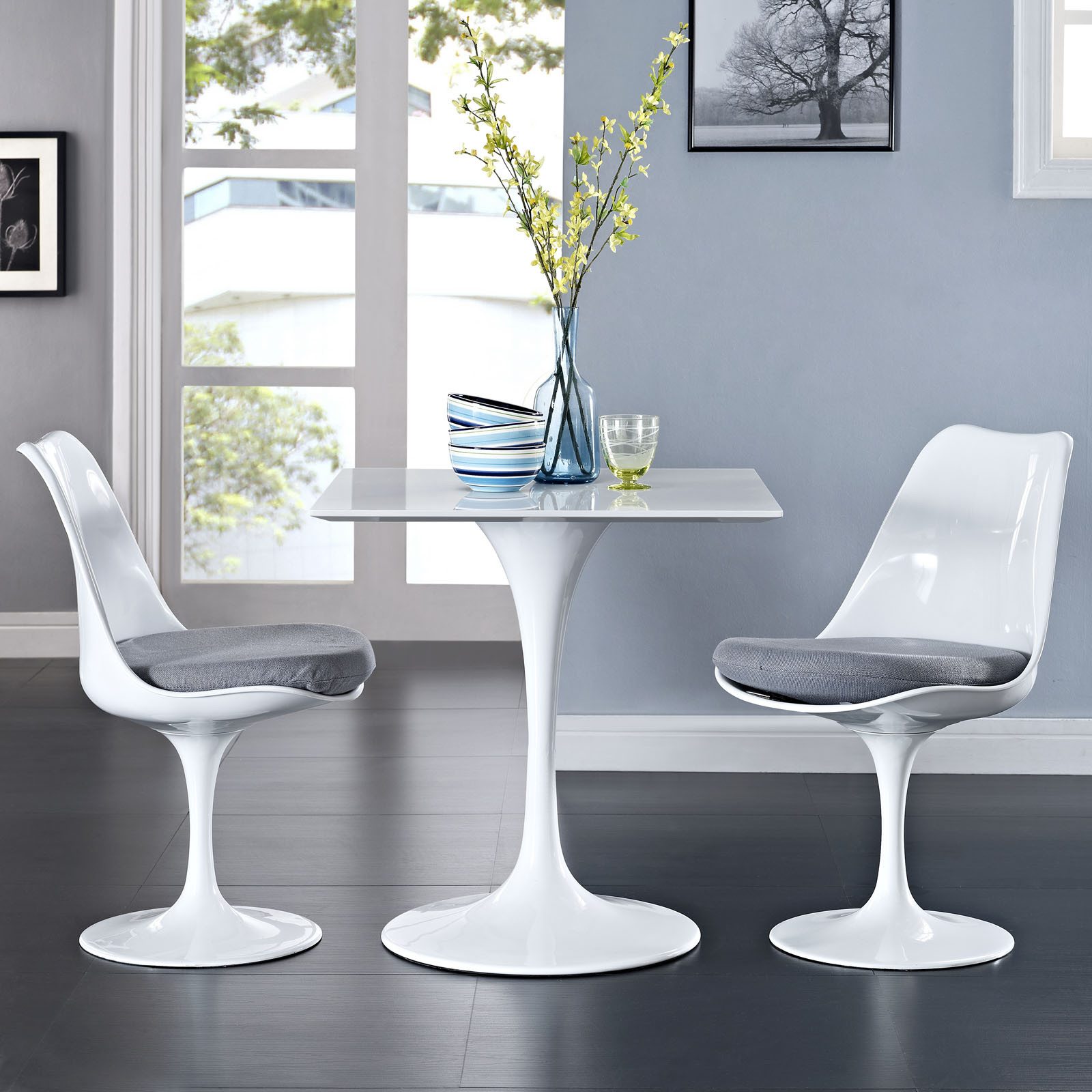 saarinen style square top dining table comes in 24inch. Black Bedroom Furniture Sets. Home Design Ideas