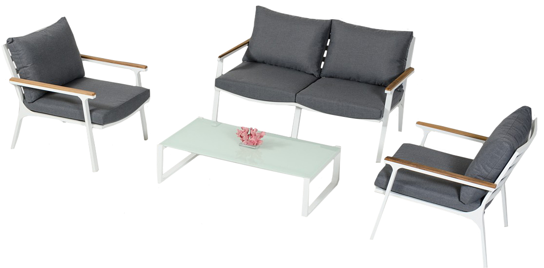 Check out the brand new St. Barths 4 piece outdoor sofa set available for sale at AdvancedInteriorDesigns.com