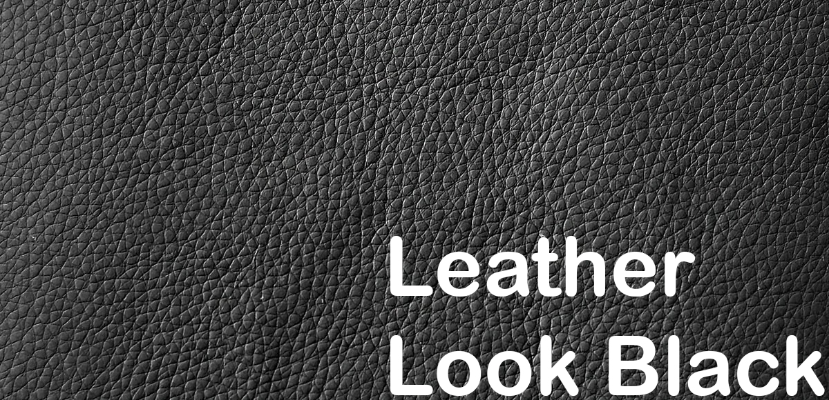 leather look black 582