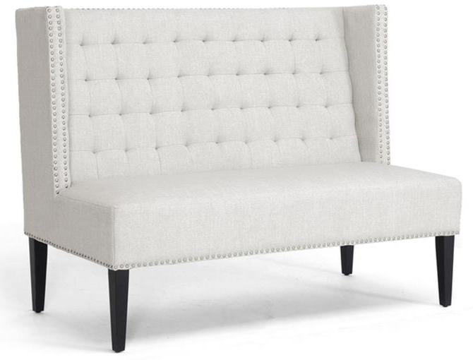 Beige Linen Dominique Bench by Baxton,