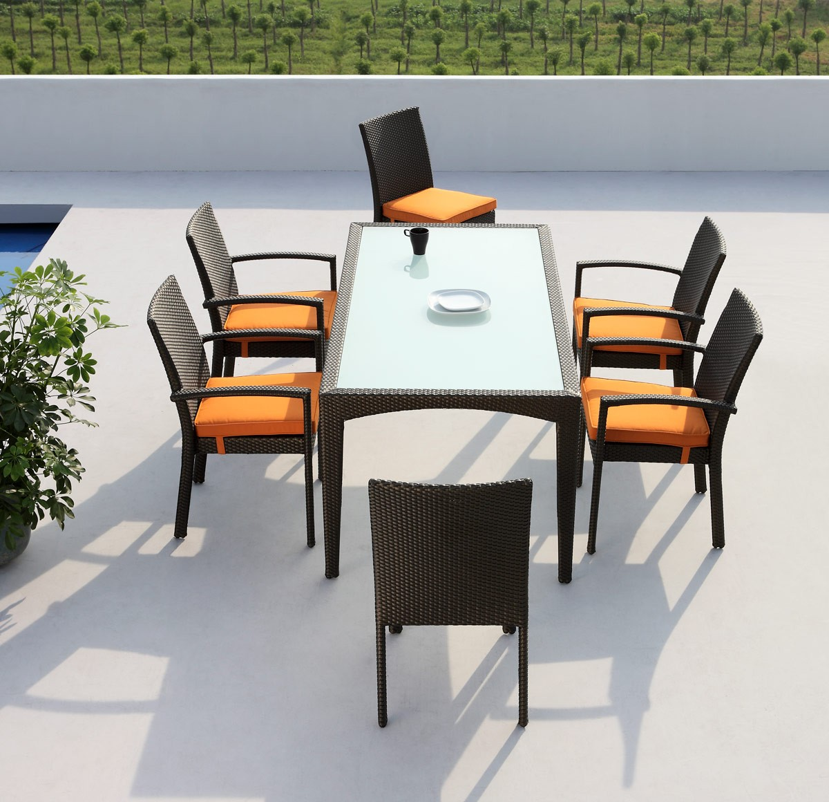 brand new 7 pc outdoor dining set available at
