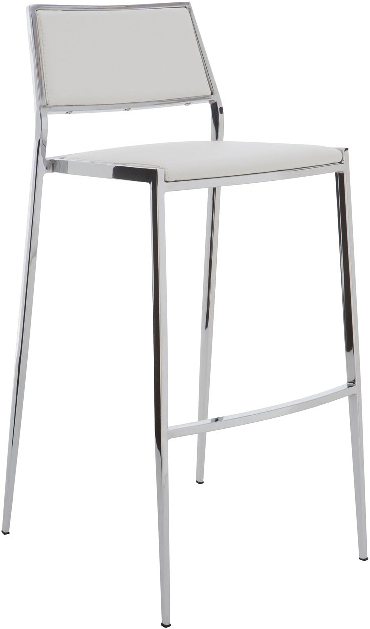 the aaron bar stool in white