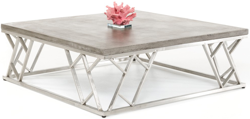 This is a picture of the Aida concrete coffee table available at Advancedinteriordesigns.com