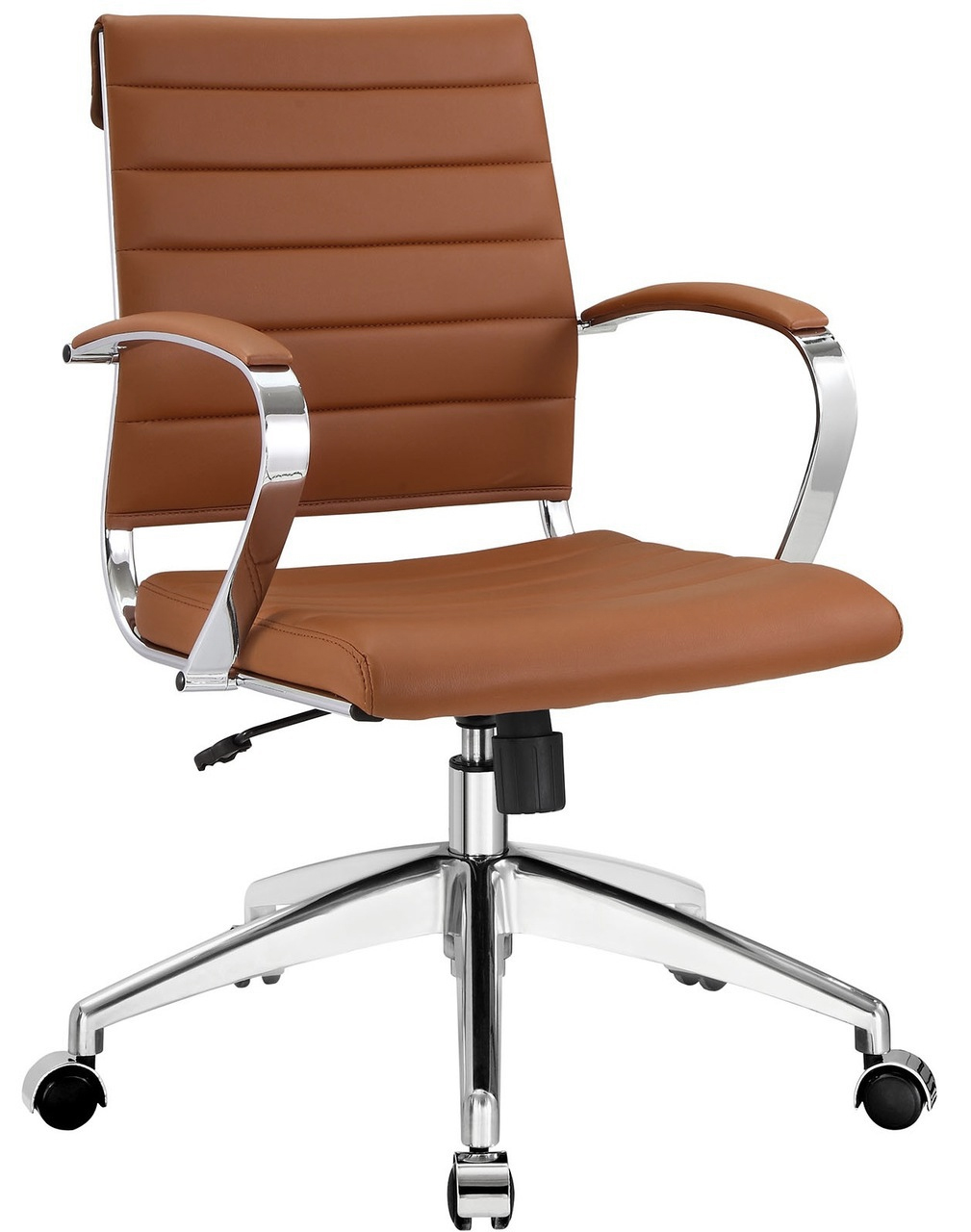 Tan leather office chair -  Aria Low Back Tan Color 1 Jpg