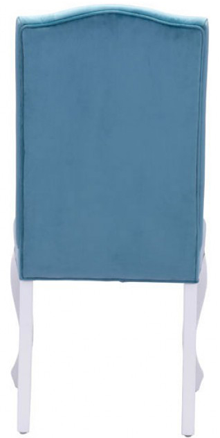 back of bourbon dining chair polar blue