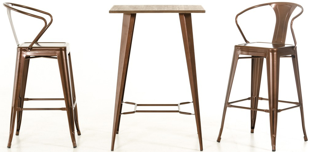 Darius Modern Bar Height Table Copper Bar Table