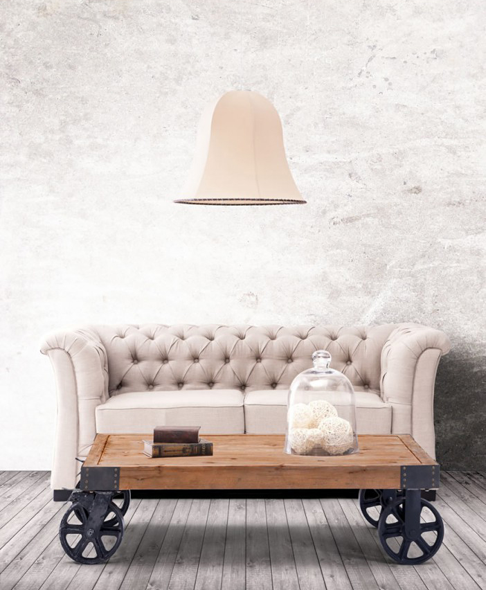 This industrial coffee table is made by Zuo Mod and available at AdvancedInteriorDesigns.com