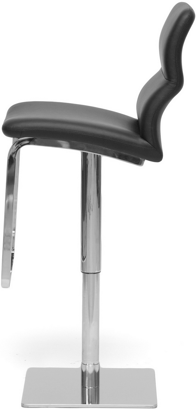 the baxton studio helsinki modern bar stool black