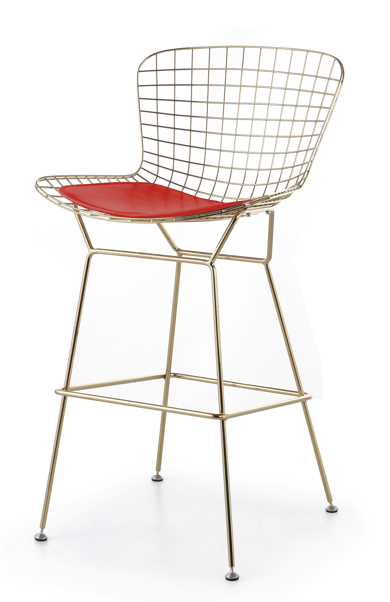 Bertoia counter stool in gold frame - Bertoia wire counter stool ...