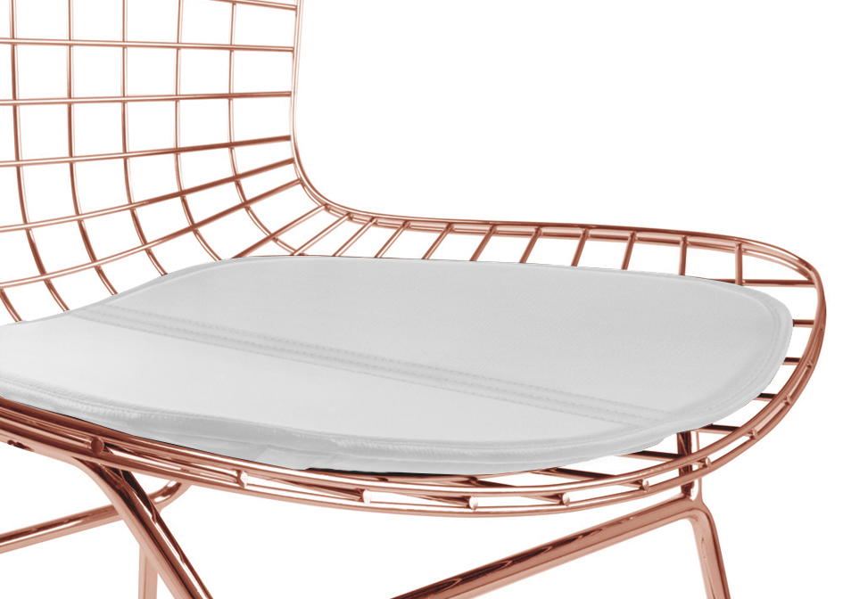 ... Bertoia Wire Side Chair Rosegold Finish ...