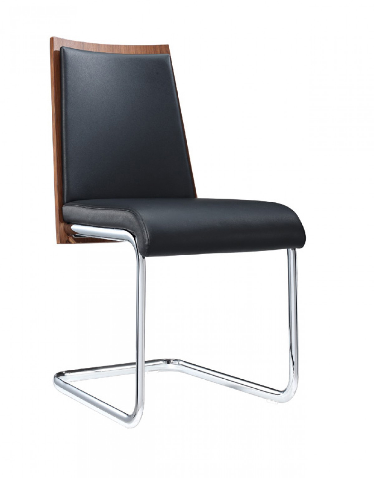 milo walnut and black modern dining chair modern dining
