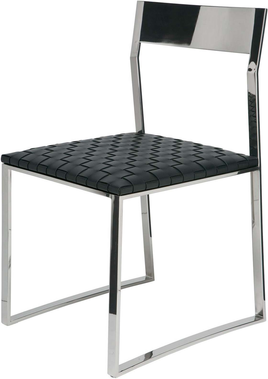 the camille dining chair in black