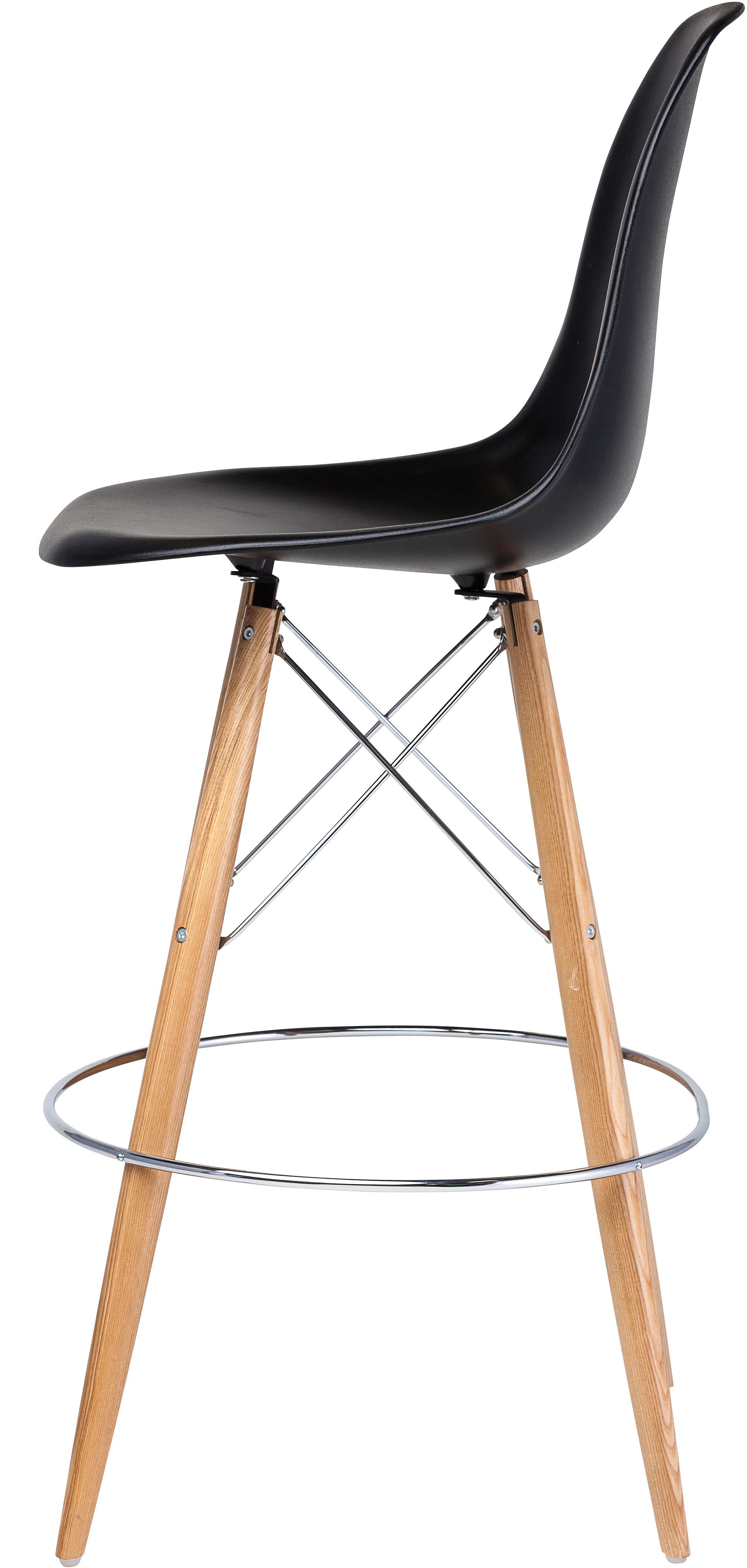 the charlotte bar stool black