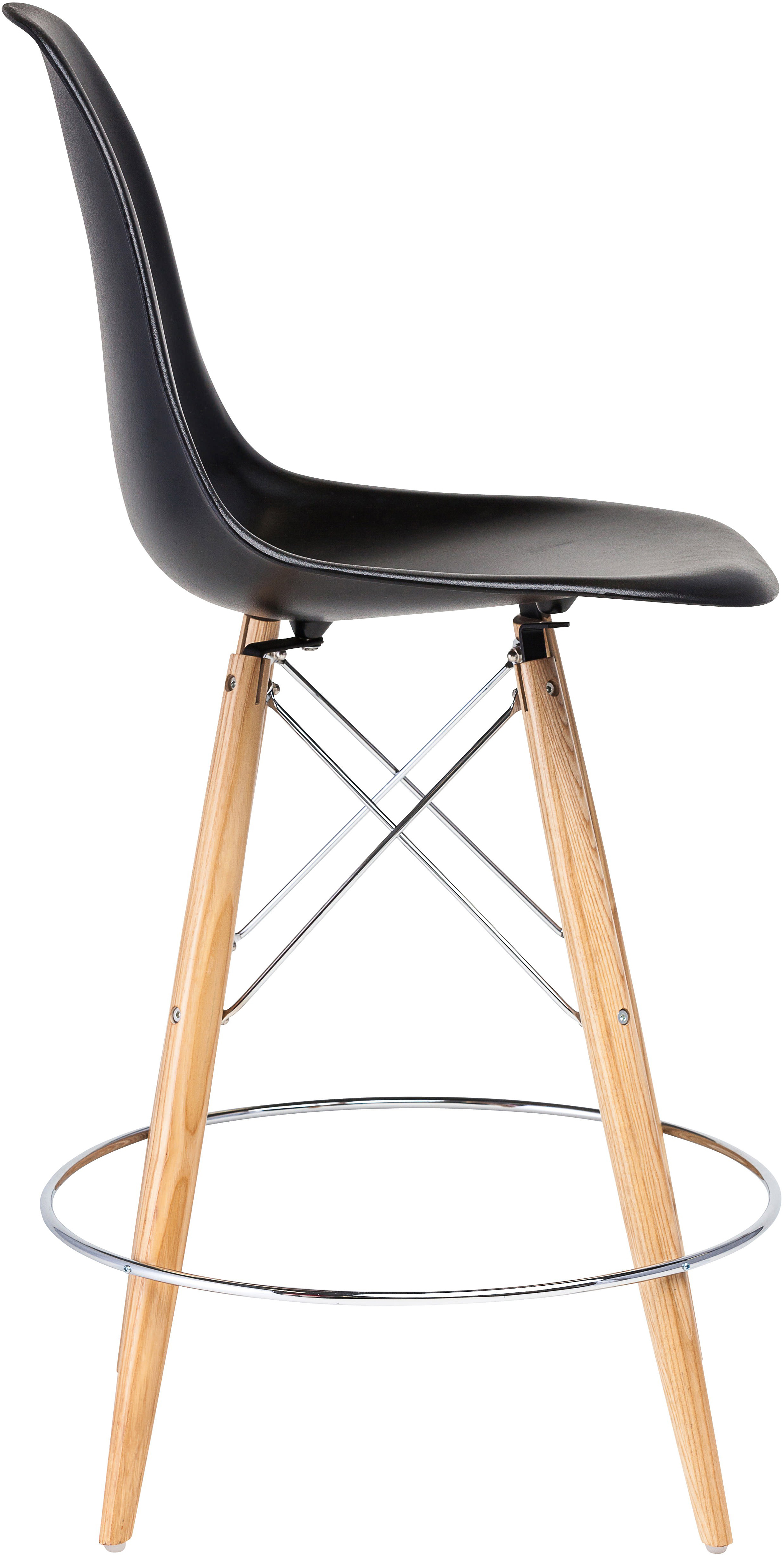 the charlotte counter stool in black