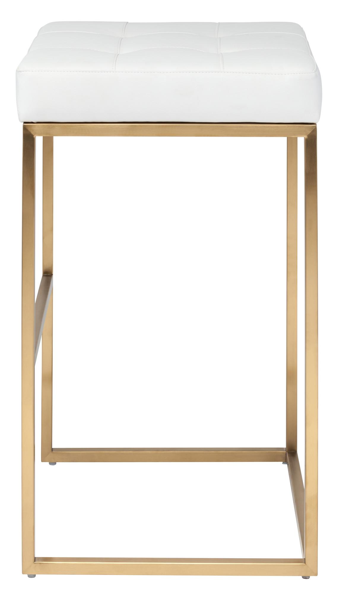 ... Chi Barstool White Seat Gold Frame ...