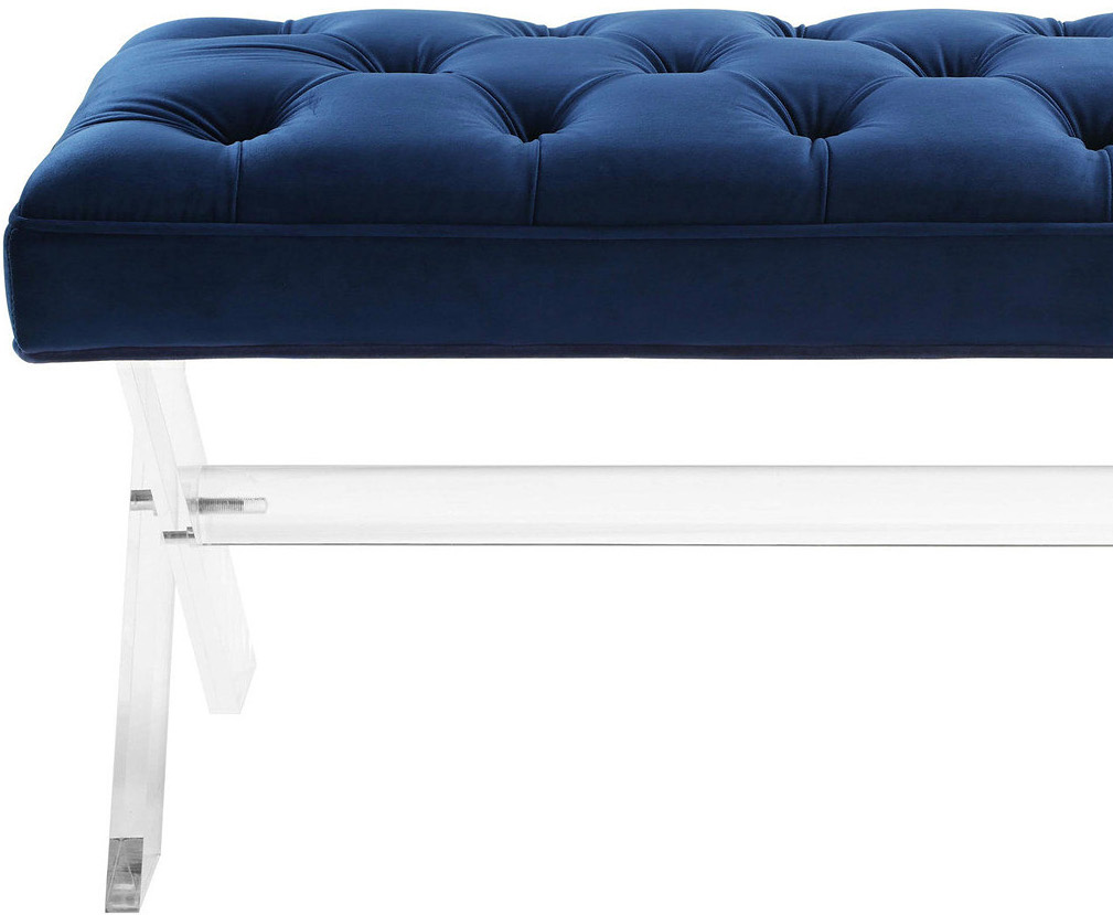 the claudia bench in navy