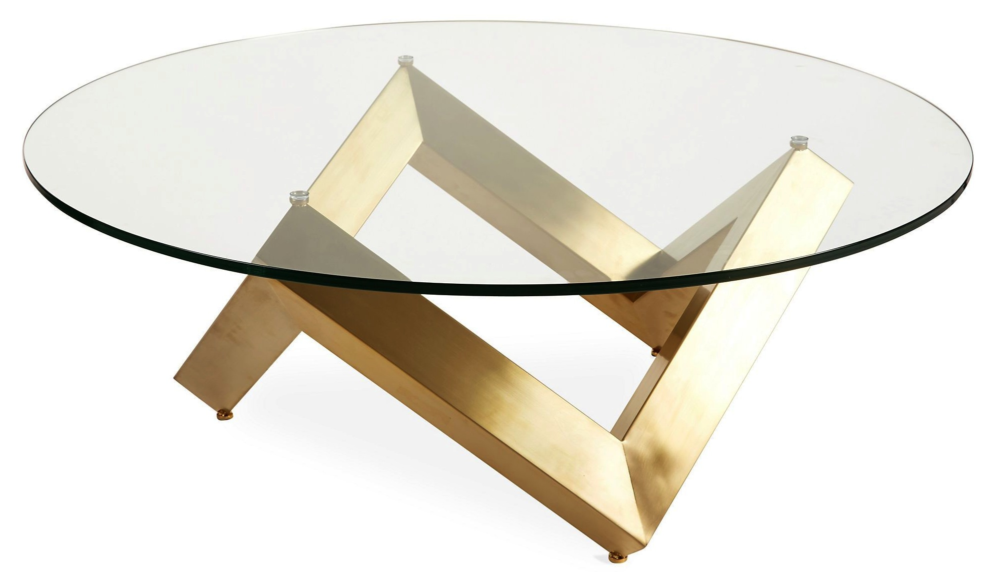 Nuevo o Coffee Table Polished or Gold Base Best Price