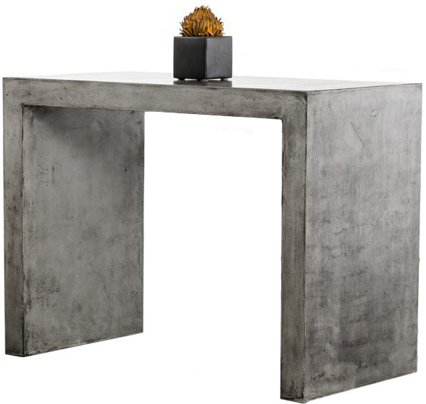 Advanced Interior Designs presents The Frantz Concrete Bar Table