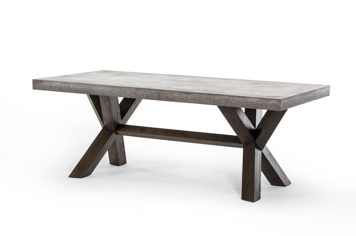Adonis concrete top dining table industrial dining tables for Biggest dining table