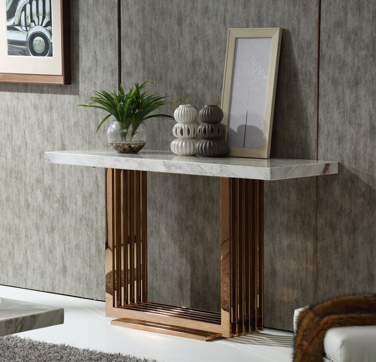 new low priced console table marble discount rose gold