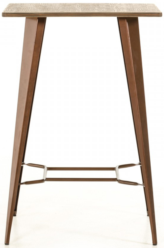 We've got a brand new copper bar table available for sale called the Darius.