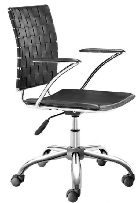 zuo 205030 criss cross office chair black available at advancedinteriordesigns.com
