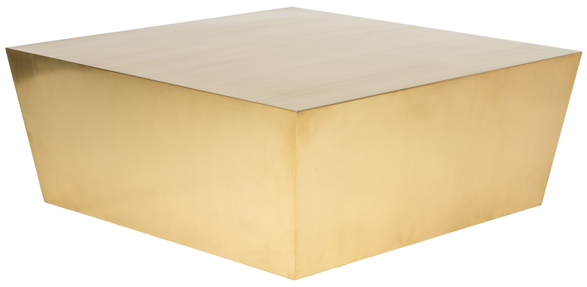 the nuevo cube coffee table in brushed gold