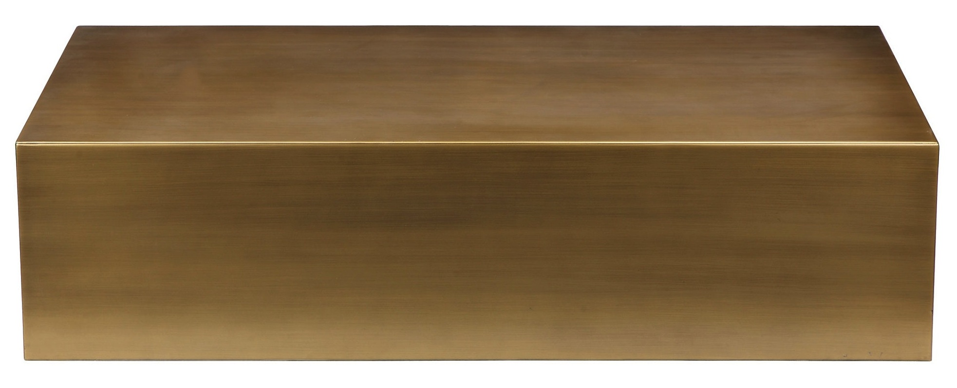Beau Cube Coffee Table In Brass Copy ...