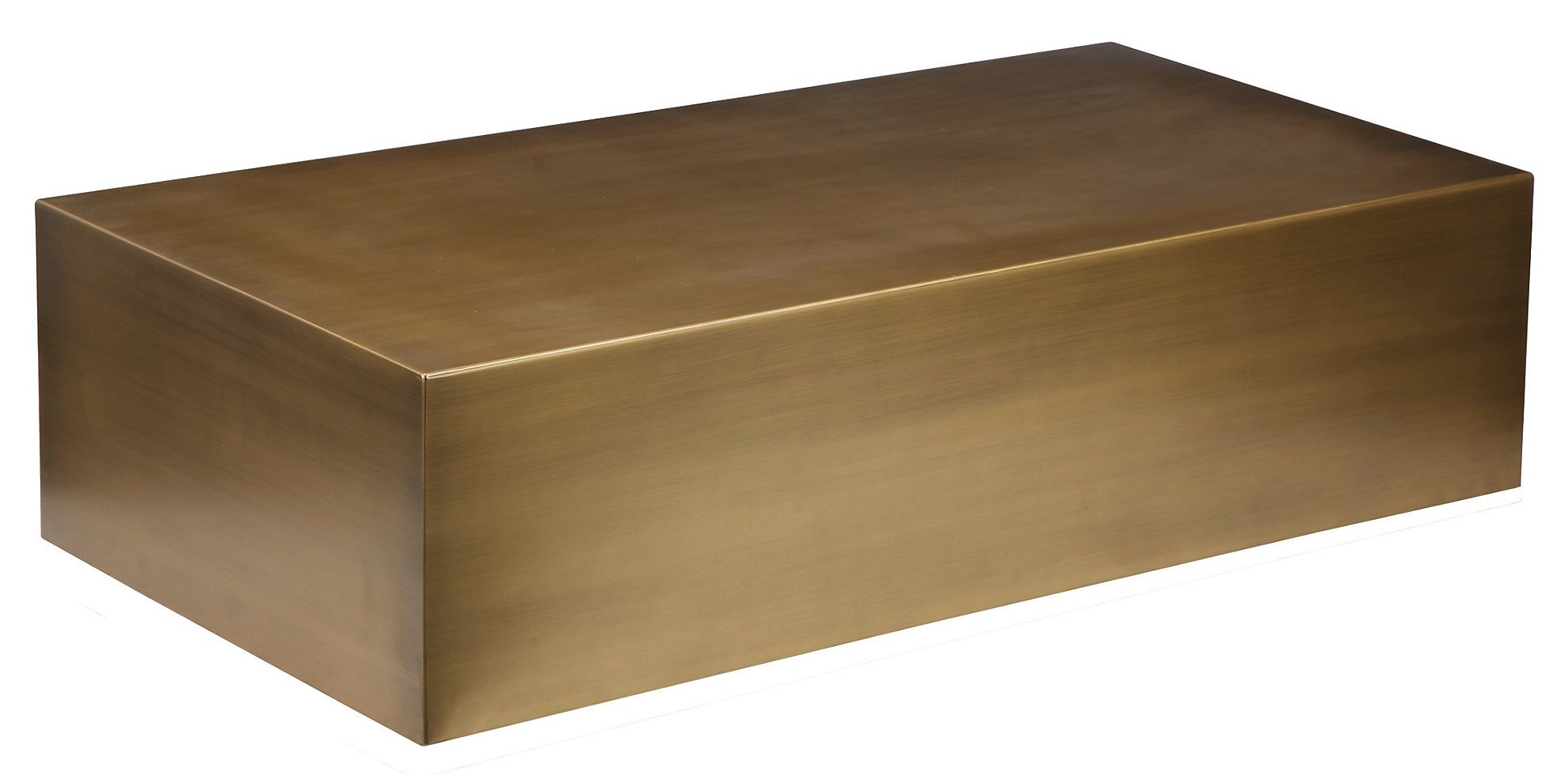 Cube Brass Coffee Table Home and fice Furniture