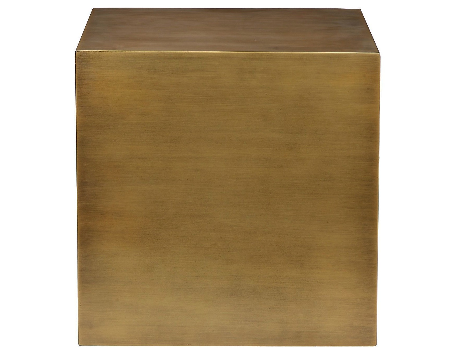 Stainless Steel Cube In Brushed Brass Advancedinteriordesigns