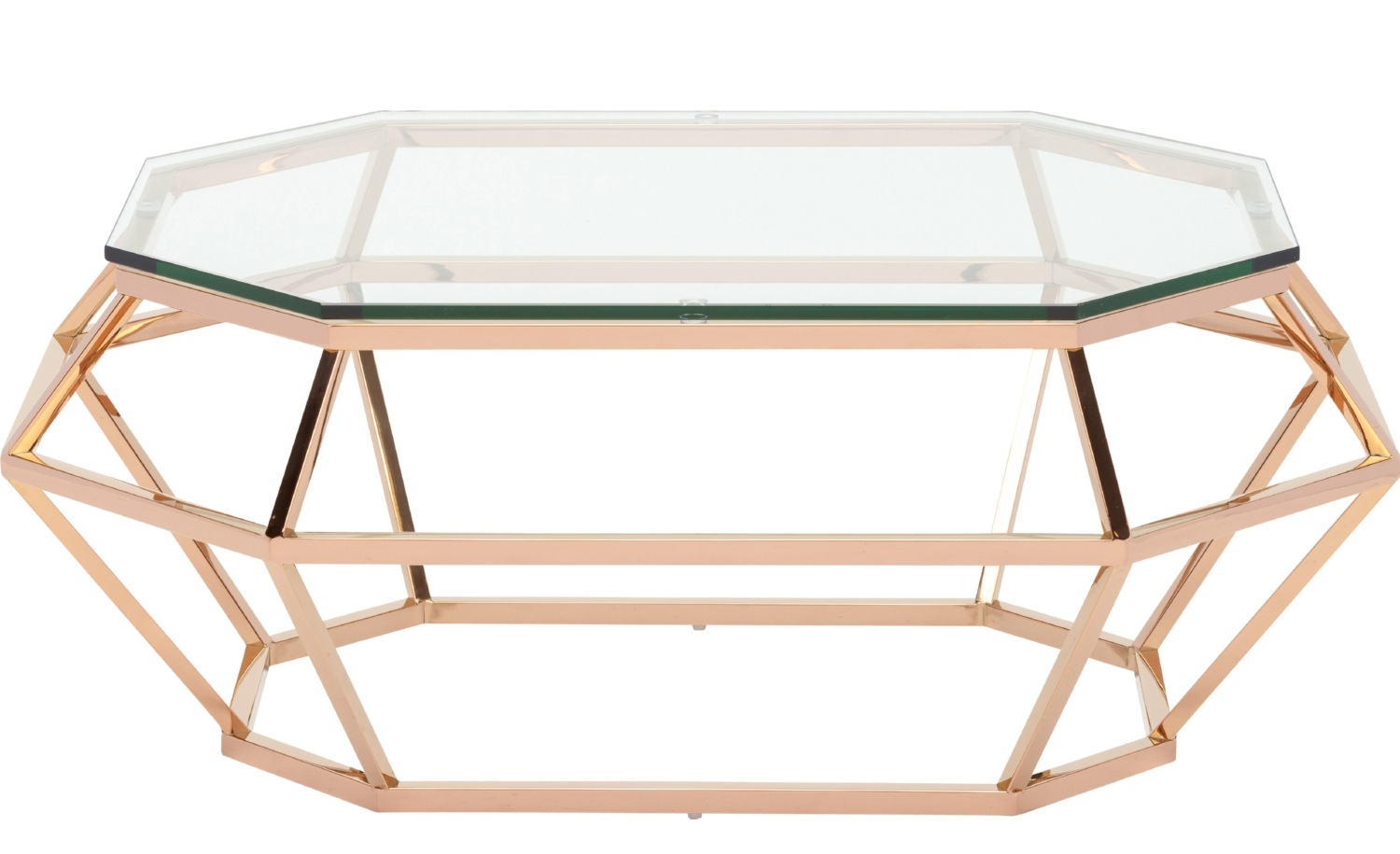 Superior ... Diamond Rectangular Coffee Table In Rose Gold ...