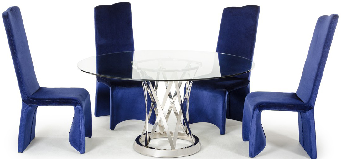 advanced interior designs new dining chair in blue