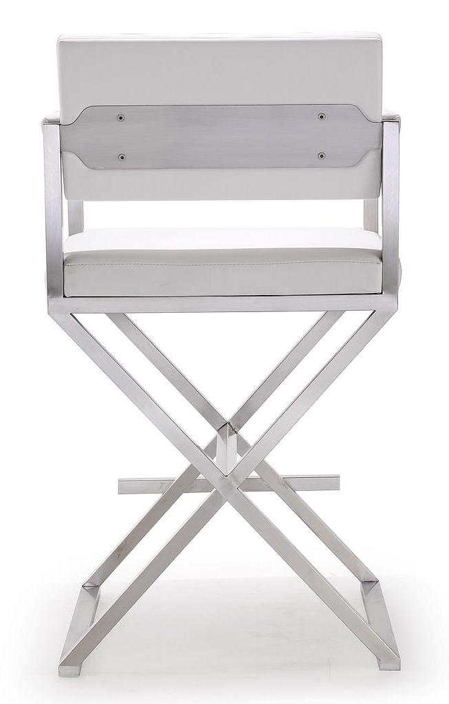 ... Directory Counter Stool White Leather ...