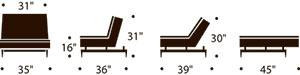 dublexo chair measurements